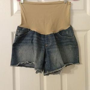 Oh Baby Maternity Denim Shorts